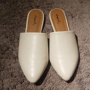 Cream off white colored slides, mules 8 new